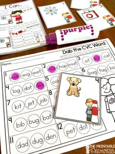 Check out these FREE activities: one for beginning sounds, one for CVC words! All you need are bingo dabbers.