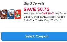 New General Mills Coupons: $.75/1 General Mills Cereal, $.50/1 Hamburger Helper and More
