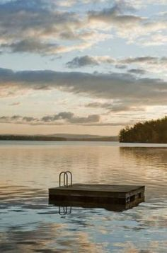 looks like the floating dock at Wyman Lake, Bingham, ME.what fun we had on those summer vacations! Haus Am See, Floating Dock, Lakeside Living, Chestnut Hill, And So It Begins, Lake Cottage, Lakeside Cottage, Lake Cabins, Deck