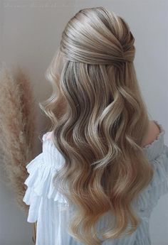 Formal Hairstyles, Bride Hairstyles, Easy Hairstyles, Hairstyles For Dresses, Straight Wedding Hairstyles, Prom Hairstyles For Long Hair Half Up, Cute Prom Hairstyles, Evening Hairstyles, Amazing Hairstyles