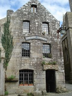 https://flic.kr/p/6bnyVr | Locronan, Finistere, Brittany (Bretagne), France | The Librarie Celtique (Celtic Library). That font used makes it look a bit like a movie set...