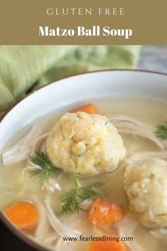 The whole family will love this easy Gluten Free Matzo Ball Soup for Passover. Easy light and fluffy matzo balls in a savory homemade chicken soup. Gluten Free Matzo Ball Recipe, Matzo Ball Soup Recipe Easy, Easy Soup Recipes, Gf Recipes, Free Recipes, Dinner Recipes, Healthy Recipes, Gluten Free Chicken, Gluten Free Soups