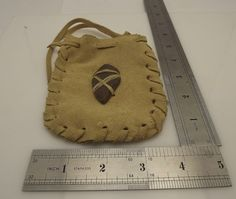 Vintage Native Indian Leather Arrowhead Medicine Man Pouch Bag ...