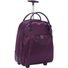 Lipault Paris Wheeled Carry-On Tote Purple - Lipault Paris Wheeled Business Cases Carry On Tote, Carry On Luggage, Travel Luggage, Travel Bags, Tote Backpack, Messenger Bag, Travel Backpack, Tote Bag, Travel Packing Outfits