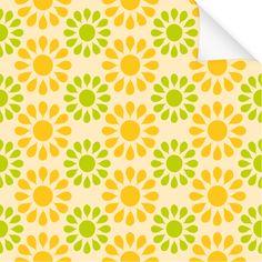 Klebefolie Dekor Muster Blume Orange Grün