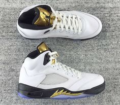 08a16c69e2db Factory Authentic Air Jordan 5 V GS Olympics Gold Medal