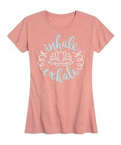 Instant Message Womens Desert Pink Inhale Exhale Relaxed-Fit Tee - Women & Plus | Zulily