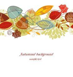 Autumnal background vector - by Danussa on VectorStock®