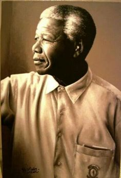 Nelson Mandela. Reflective.