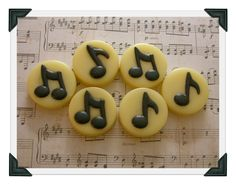 Musical Notes Soap - Gift - Music - Musician - Band - Orchestra - Student - Teacher - Conductor - Hand Made In USA - Custom Orders Welcome! by SCENTSOFHUMORCANDLES on Etsy