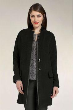 Damesmode, Expresso Leeds jas Klassieke, lange jas van een super zachte zwarte wol mix. MEER http://www.pops-fashion.com/?p=14472