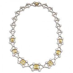 Luxus Criss Cross-Eisenbahn-Diamant-Halskette