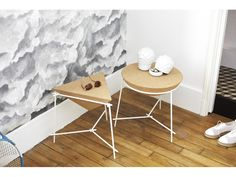 Buy the End table Basil / Pyramide from Petite Friture, on Made in Design - 48 to 72 hours delivery. Geometric Furniture, Small Furniture, Home Decor Furniture, Furniture Design, Contemporary Side Tables, Deco Design, End Tables, Coffee Tables, Home Interior Design