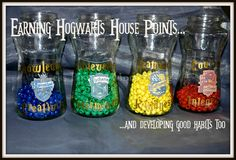 I'm Teaching My Kids Some Good Values…with a little help from Hogwarts Hogwarts themed behavior reward program for home or classroom.Hogwarts themed behavior reward program for home or classroom. Harry Potter Classes, Harry Potter Classroom, Theme Harry Potter, Harry Potter Room, Harry Potter Houses, Harry Potter Birthday, Behavior Rewards, Classroom Rewards, Classroom Displays