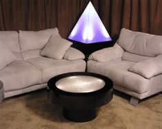 End Table - Light Furniture - Table Tops Illuminated with LEDs and other effects