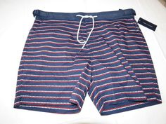 Men's swim trunks board shorts Tommy Hilfiger NEW L large 78B3713 navy blue 403 #TommyHilfiger #Trunks