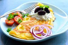 Græsk omelet med tzatziki - Julie Karla, Sunde Opskrifter, Low Carb Opskrifter