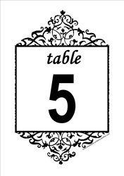 Números de la tabla Gratis - DIY de boda para imprimir números de la tabla de recepción Plantillas gratuitas