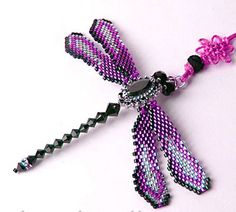 Free Beaded Dragonfly Pattern | Free Jewelry Beading Patterns on Free Beaded Jewelry Patterns Offers ...