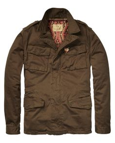 Army Jacket With Detacheble Jacquard Lining > Mens Clothing > Jackets at Scotch & Soda