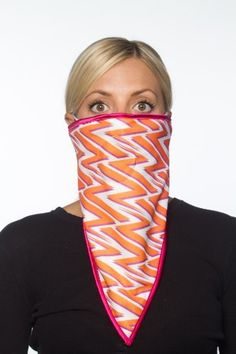 TrueninZa Bandana - 2 layers with Polyester and Minky, High Quality Face Protection Mask for Ski, Snowboard, Snowmobile, and All Outdoor Winter Sports, Warm with Moisture Management and Anti-Microbial Spray, Breathing Hole and Ear Loop, Made in USA (Pattern Orange/Red) by TrueninZa. $29.99. Ride in Style and Comfort with TrueninZa Gear!!!  TrueninZa uses the best quality fabrics and materials available to provide its customers with the highest quality products.  TrueninZa Band...