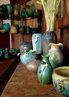 Ephraim Faience Pottery has many collections, with pieces being retired and added all the time. All photos by William Wright.