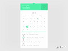 Calendar [Freebie] by Slava Kim