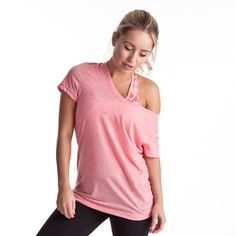 Show a little bra! When your bra matches your tee, then it looks super styled and lux!