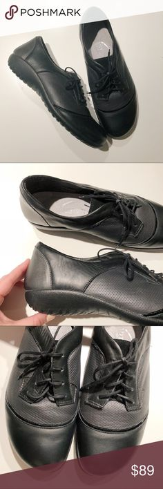 Naot Harore Lace-up Black Leather Shoe size 8/8.5