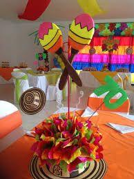 Decoración del hogar para carnaval - DIY carnavales Mexican Birthday Parties, Dance Party Birthday, Mexican Fiesta Party, Fiesta Theme Party, Birthday Party Themes, 80th Birthday, Carnival Decorations, Mexican Party Decorations, Party Centerpieces