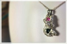100% Pure Silver rocky pendant and Cubic Zirconias. Hand-crafted with love by me!