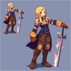 #character #girl #sword #pixelart