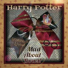 Harry Potter Cheer Bow by Mad About Bows by on Etsy Cheer Stunts, Cheer Dance, Cheerleading Stunting, Cute Cheer Bows, Big Bows, Cheer Hair, Cheer Gifts, Making Hair Bows, Fall Halloween
