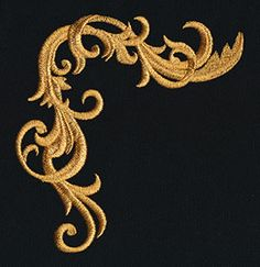 Gilded Heraldry - Top Frame Edge   Urban Threads: Unique and Awesome Embroidery Designs