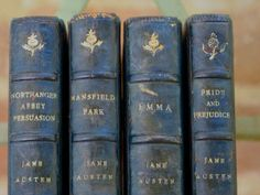 First Edition Jane Austen books from Hollye Jacobs collection.  A true treasure.