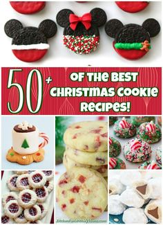 Over 50 of the BEST Christmas Cookie Recipes - these are all so festive and delicious. Everyone will rave about your Christmas cookie tray!