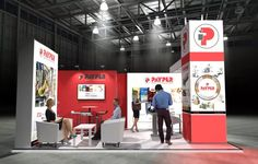 x Modular Exhibition Stand – 2 Exhibition Booth Design, Exhibition Stands, Slat Wall, Stand Design, Stage, Exhibition Stand Design, Booth Design