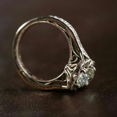 Marion Rehwinkel Jewellery Side Detail Oval Engagement Ring 9ct Rose Gold Stella…
