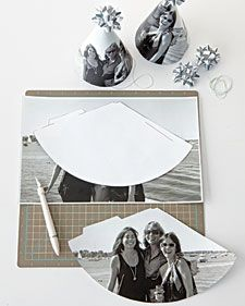 How-To  Photo Birthday Party Hats - would be SO cute for a surprise party; different pictures on the guests' hats