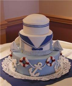 Sailor/Nautical Theme - Cake