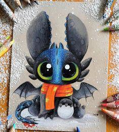 Baby Alpha Toothless by SkyKristal Baby Alpha Toothless por SkyKristal stuff Cute Disney Drawings, Cute Animal Drawings, Kawaii Drawings, Cool Drawings, Drawing Sketches, Drawing Ideas, Pokemon Mignon, Baby Drawing, Dragon Art