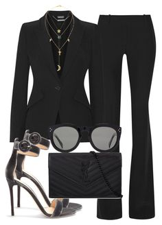 Sem título #2376 by mariandradde on Polyvore featuring polyvore fashion style Alexander McQueen Gianvito Rossi Yves Saint Laurent Lana Pamela Love Cartier CÉLINE clothing