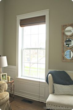DIY craftsman window trim with GREAT tutorial! Have to do this in my living room!