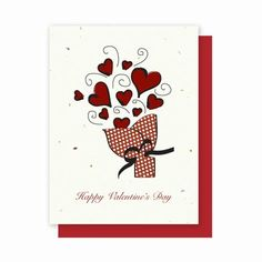"""Say Happy Valentine's Day with a new plantable greeting card from La Bella Baskets! Each card has seeds embedded inside to grow wildflowers, vegetables or herbs. Send love and help beautiful the earth! Visit my """" What's New In My La Bella Baskets Store? page on my website for a gallery of new greeting cards to explore!  Economically priced too!"""