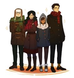 nymre: some modern krew for fun. yay Snugly and adorable! I would love to see these versions animated.