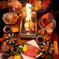 Japanese BBQ Table Top Grill, Nachos, Food Styling, Stew, Waffles, Nom Nom, Seafood, Spicy, Grilling