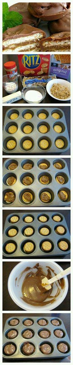 Chocolate Ritz cookies