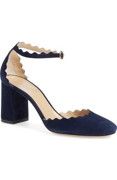 Chloé Scalloped Ankle Strap d'Orsay Pump (Women) available at #Nordstrom