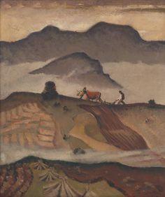 Martin Benka - Oráč, 1935 Graphic Art, Illustration Art, Tapestry, Artist, Painting, Hanging Tapestry, Tapestries, Artists, Painting Art