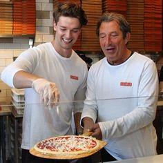 Patrick owns the Blaze Pizza shop on Figueroa next to USC. Hello there, Patrick Schwarzenegger.